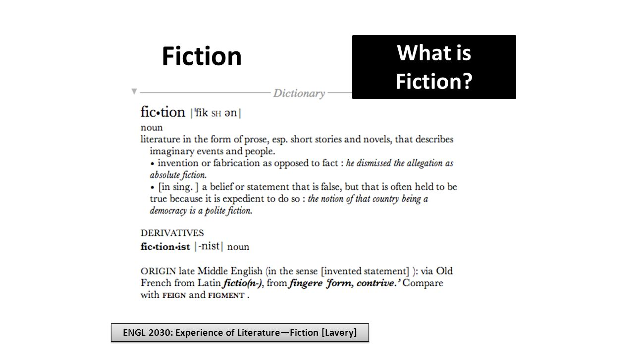 ENGL 2030: Experience of Literature—Fiction [Lavery]